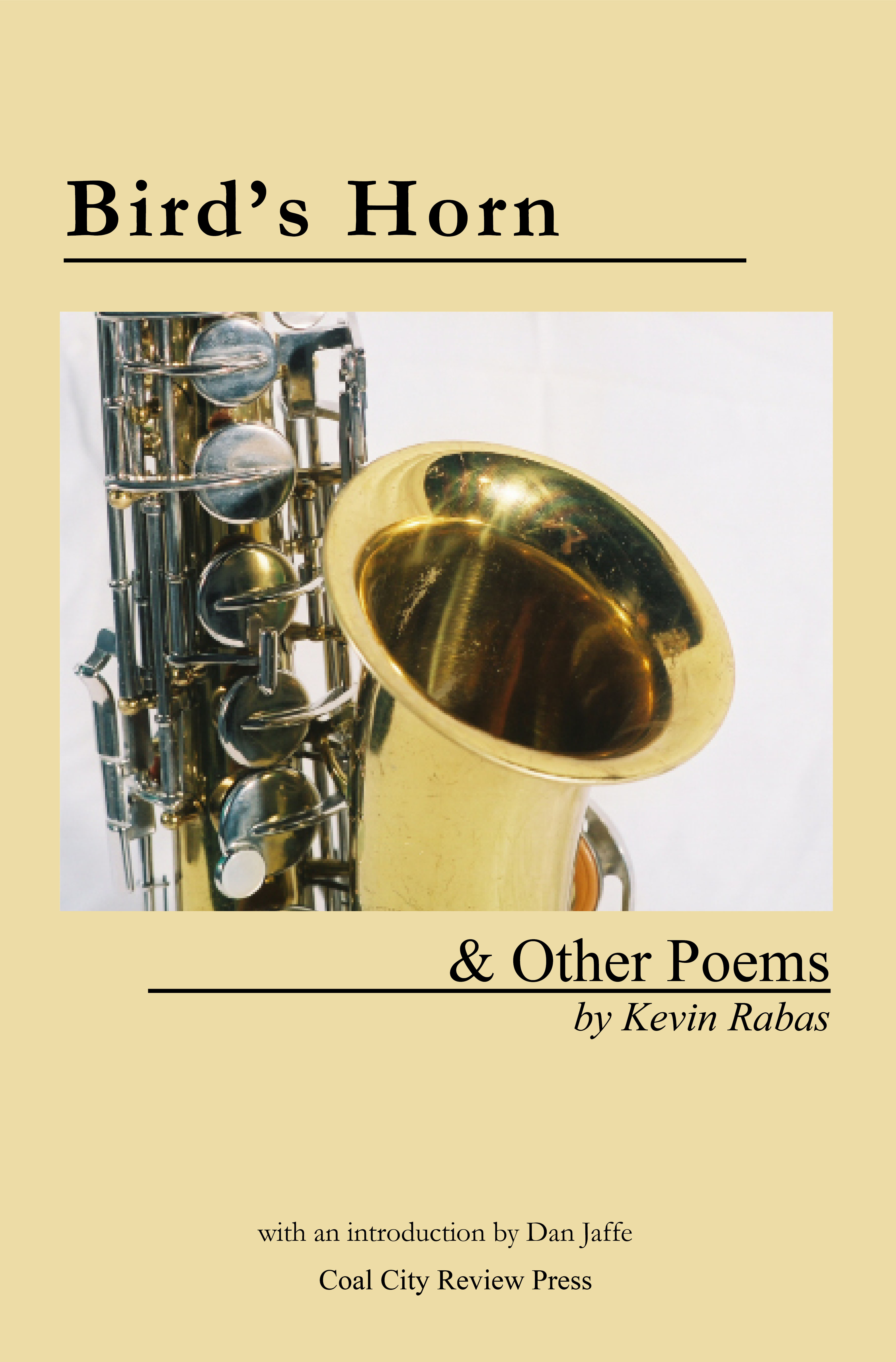 cover art for Bird's Horn & other poems by Kevin Rabas